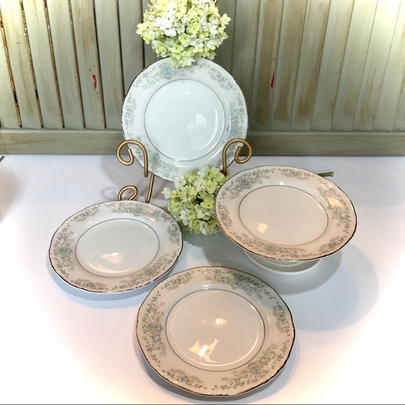 Vintage Other - Norleans China Theresa Bread & Butter Plates (4)